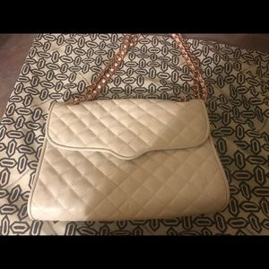 Rebecca minkhoff White quilted crossbody bag